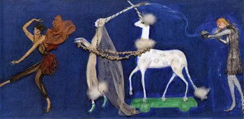 Costume Design (Precession -  Orpheus) for Artists Ballet Orphée of the Quat - Z - Arts | Florine Stettheimer | oil painting