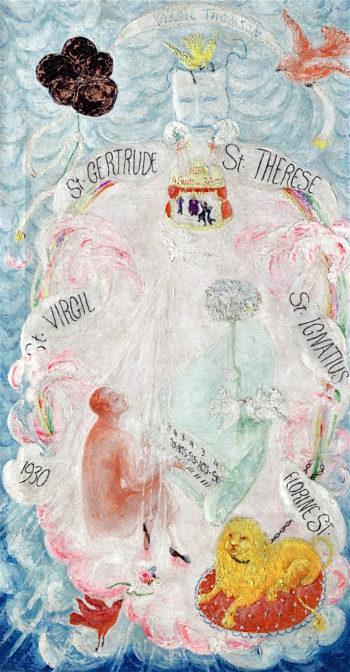 Portrait of Virgil Thomson | Florine Stettheimer | oil painting