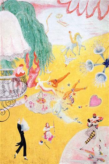 Love Flight of a Pink Candy Heart | Florine Stettheimer | oil painting
