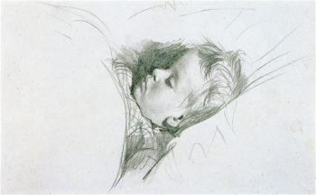 Sleeping Child | Adolph von Menzel | oil painting
