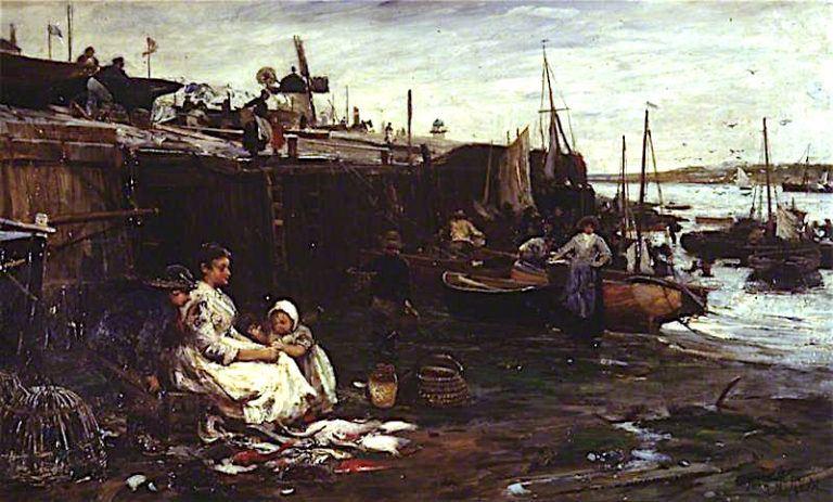 Fisherfolk at St Ives