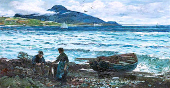 Holy Isle from Whiting Bay | John Robertson Reid | oil painting