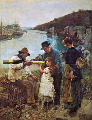 Rival Grandfathers | John Robertson Reid | oil painting