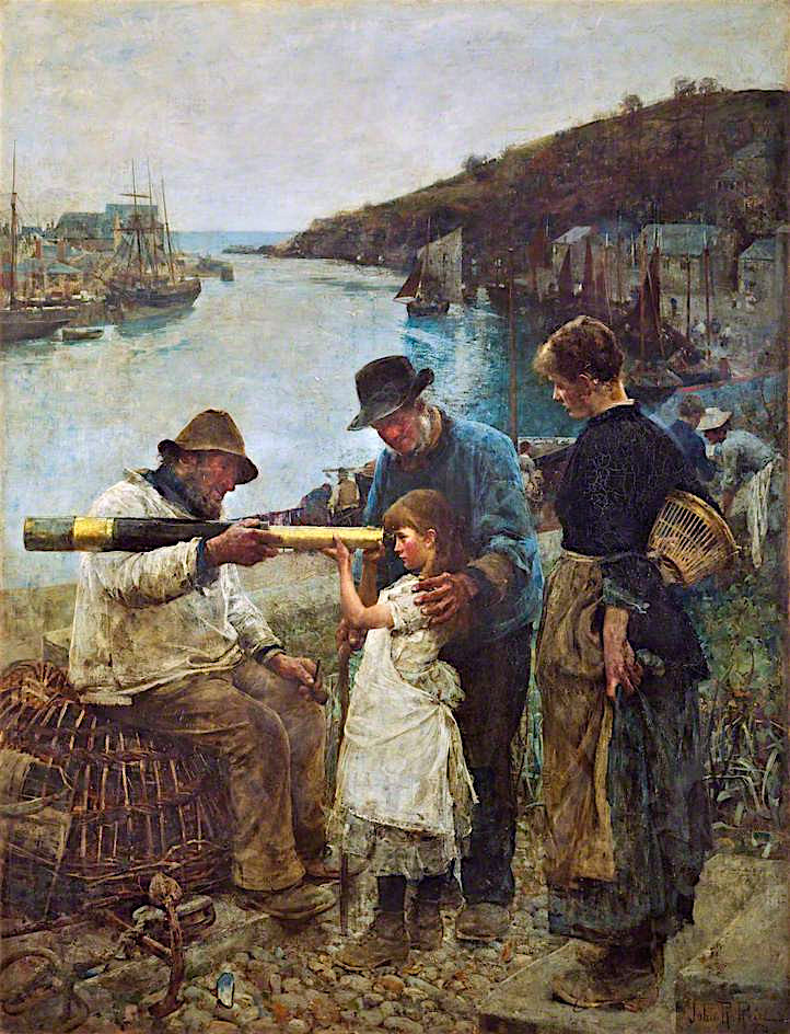 Rival Grandfathers   John Robertson Reid   oil painting