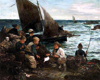Sons of the Sea | John Robertson Reid | oil painting