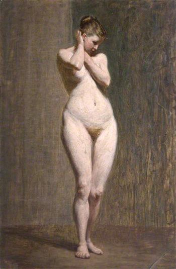 Standing Female Nude | John Robertson Reid | oil painting