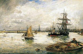 The Market Boat | John Robertson Reid | oil painting
