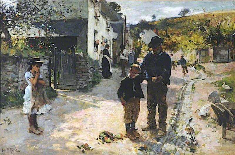 The Plagues of His Village | John Robertson Reid | oil painting