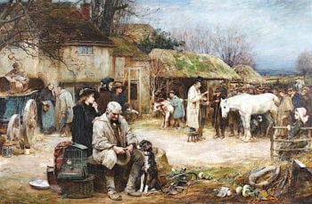 The Sale of Old Dobbin | John Robertson Reid | oil painting