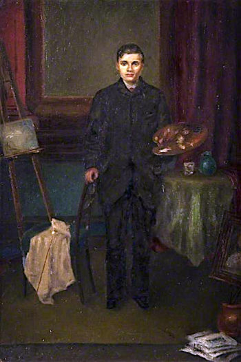 Full - Length Figure of the Artist with an Easel | John Quinton Pringle | oil painting