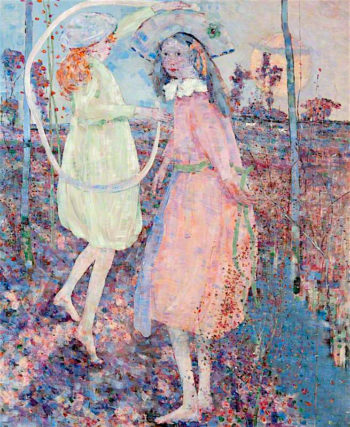 Girls at Play | John Quinton Pringle | oil painting