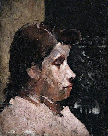 Girls Head | John Quinton Pringle | oil painting