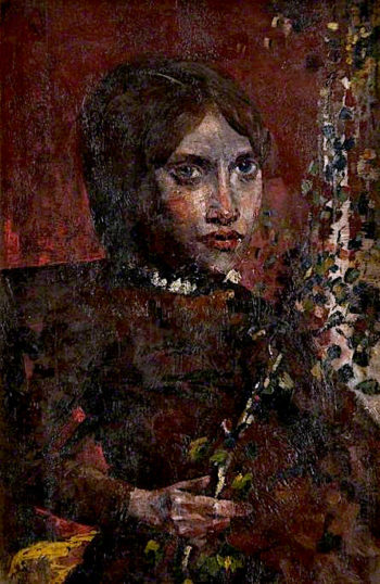 Half - Length Figure of a Seated Girl with Flowers | John Quinton Pringle | oil painting