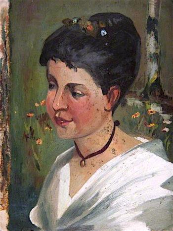 Head of a Girl   John Quinton Pringle   oil painting