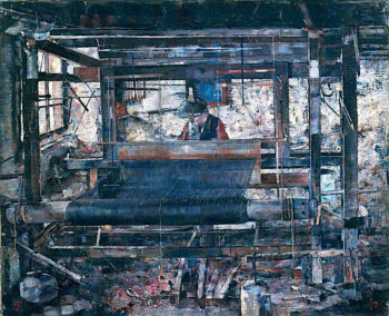 The Loom | John Quinton Pringle | oil painting