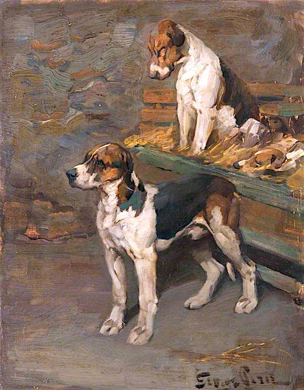 Foxhounds | Sir George Pirie | oil painting