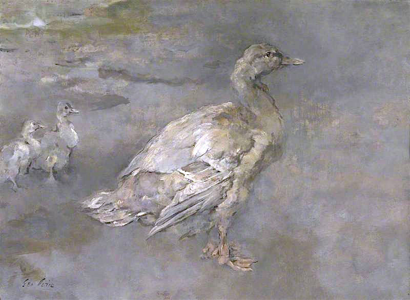 Mother Duck | Sir George Pirie | oil painting