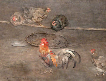 The Hen Roost | Sir George Pirie | oil painting
