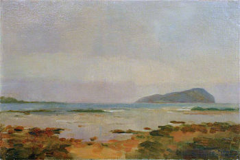 The Island of Davaar from Campbeltown Loch | Sir George Pirie | oil painting