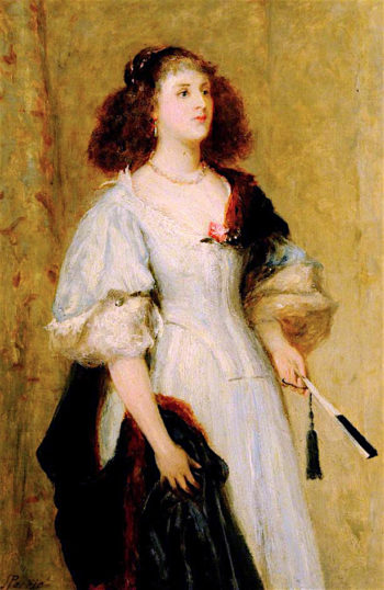 A Lady of the Seventeenth Century | John Pettie