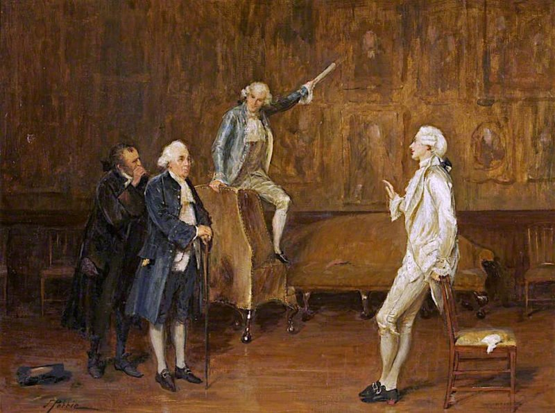 Charles Surface Selling His Ancestors | John Pettie