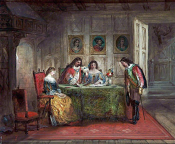 Interior with Four Figures | John Pettie