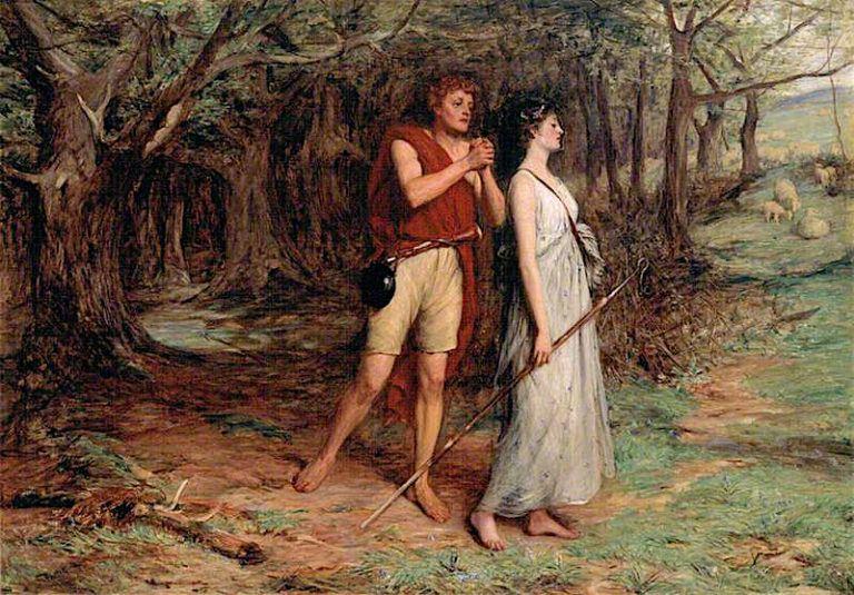 Silvius and Phoebe | John Pettie