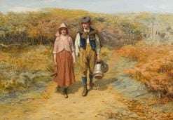 To the Fields I Carried Her Milking Pails | John Pettie