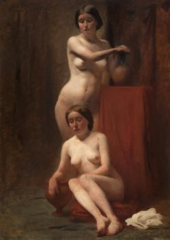 Two Female Nudes -  One Standing