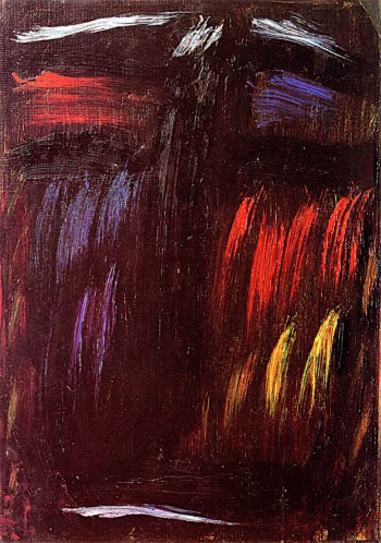 Meditation -  Harmony in Red and Blue | Alexei von Jawlensky | oil painting