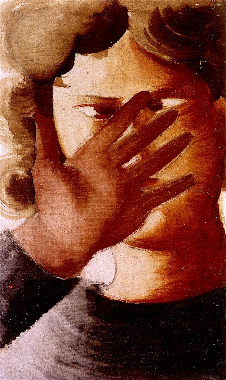 Woman Holding up Her Hand