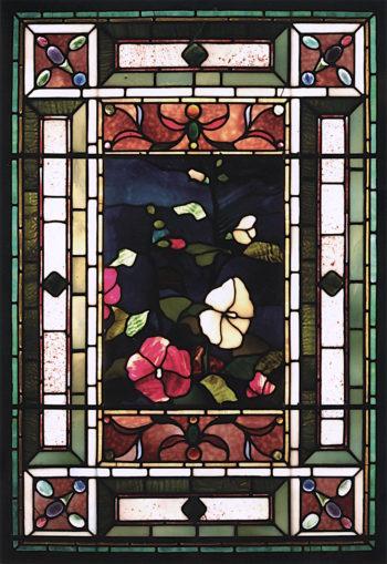 Hollyhocks and Morning Glories | John La Farge | oil painting