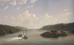 View On The Mississippi Fifty Seven Miles Below St.Anthony Falls,Minneapolis 1858   Joachim Ferdinand Richardt