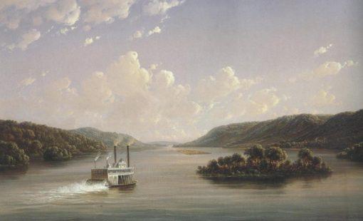 View On The Mississippi Fifty Seven Miles Below St.Anthony Falls,Minneapolis 1858 | Joachim Ferdinand Richardt