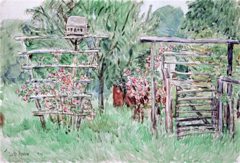 Weirs Garden | Childe Hassam | oil painting