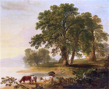 Pastoral Scene a Lakes Edge | Asher Brown Durand | oil painting