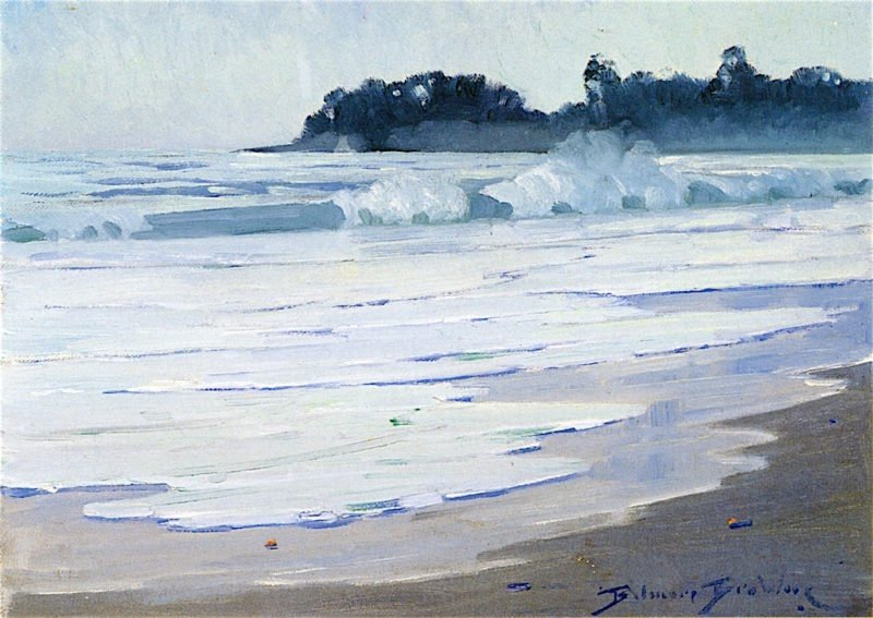Surf on the Serena Beach | Belmore Browne | oil painting