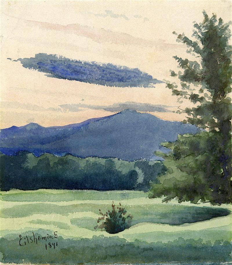 Green Meadow   Louis M. Eilshemius   oil painting