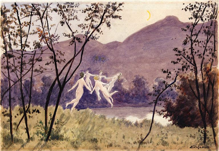 Dance of the Sylphs | Louis M. Eilshemius | oil painting