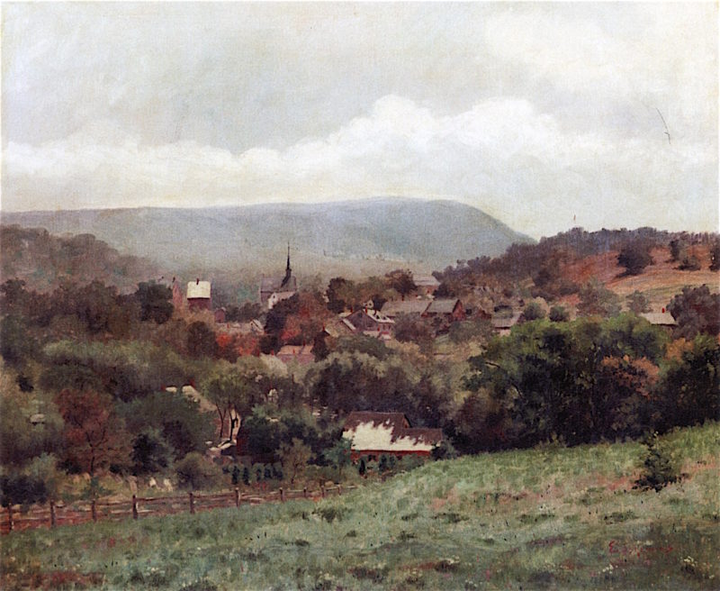 Delaware Water Gap Village | Louis M. Eilshemius | oil painting