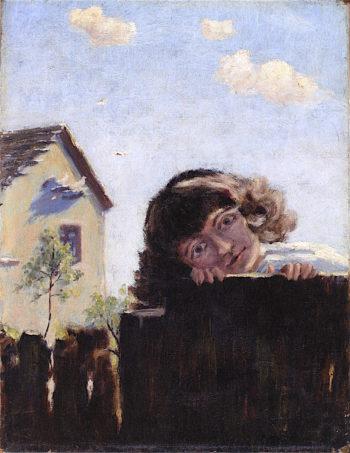 Laughing Girl | Louis M. Eilshemius | oil painting