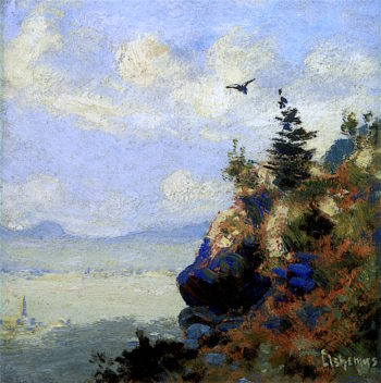 Summer Landscape with Hark | Louis M. Eilshemius | oil painting