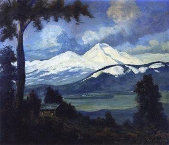 Mount Shasta   Louis M. Eilshemius   oil painting