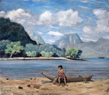 Samoa | Louis M. Eilshemius | oil painting