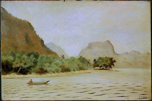 Twilight in Samoe | Louis M. Eilshemius | oil painting