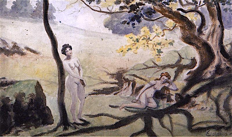 Beauties in the Woods | Louis M. Eilshemius | oil painting