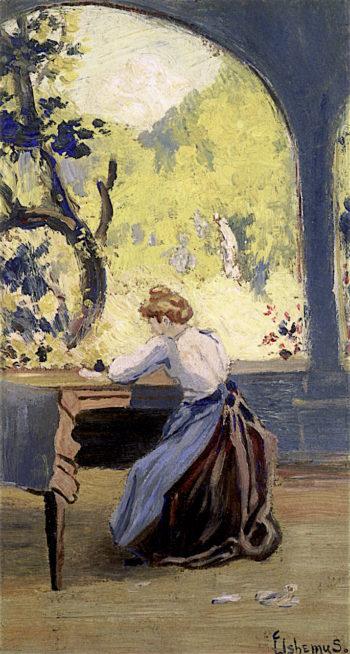 Verandah in Spring | Louis M. Eilshemius | oil painting