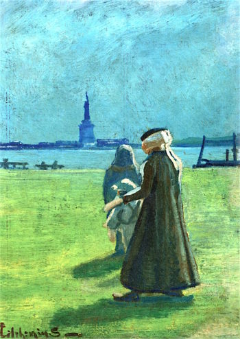 Statue of Liberty | Louis M. Eilshemius | oil painting