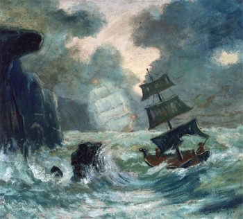 The Flying Dutchman | Louis M. Eilshemius | oil painting