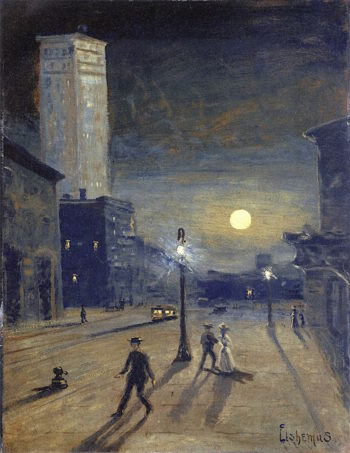 New York at Night | Louis M. Eilshemius | oil painting